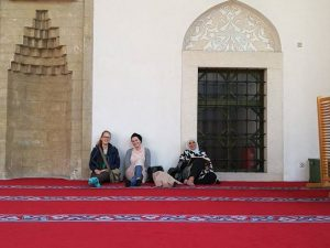 Relaxing at the Gazi Husrev-bey mosque
